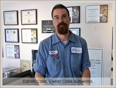 Darren Denise Collie owners Autoworks San Rafael California